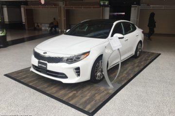 Ausstellungs-Automobilboden