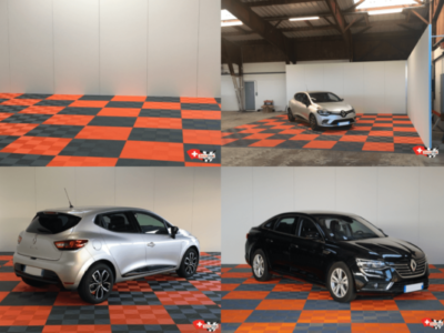 Automobil-Fotobereich, Ribtrax-Platten Slate Grey und Tropical Orange
