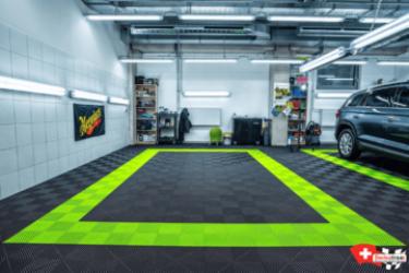 Boden für Detailing-Center