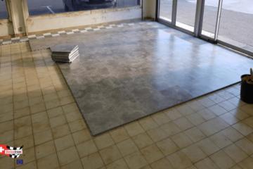 Boden für Ladenflächen Verlegung