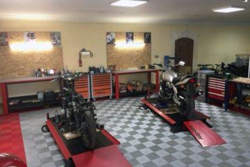 Boden-für-Motorrad-Werkstatt