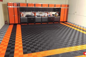 Bodenbelag der Garage