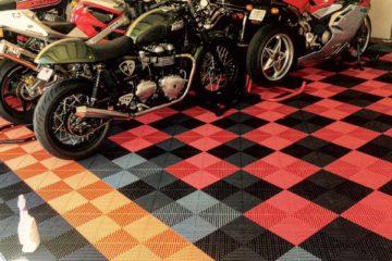 Bodenplatte für Motorradgarage