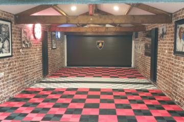 Bodenplatten für Garage Rot-Schwarz