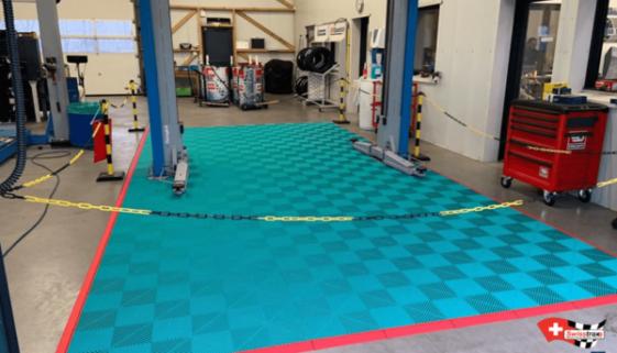 Bodenplatten für Werkstatt