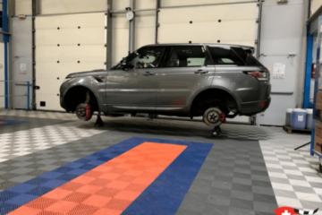 Bodenplatten für die Werkstatt Garage