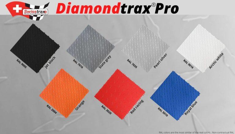 Die DIAMONDTRAX Farben