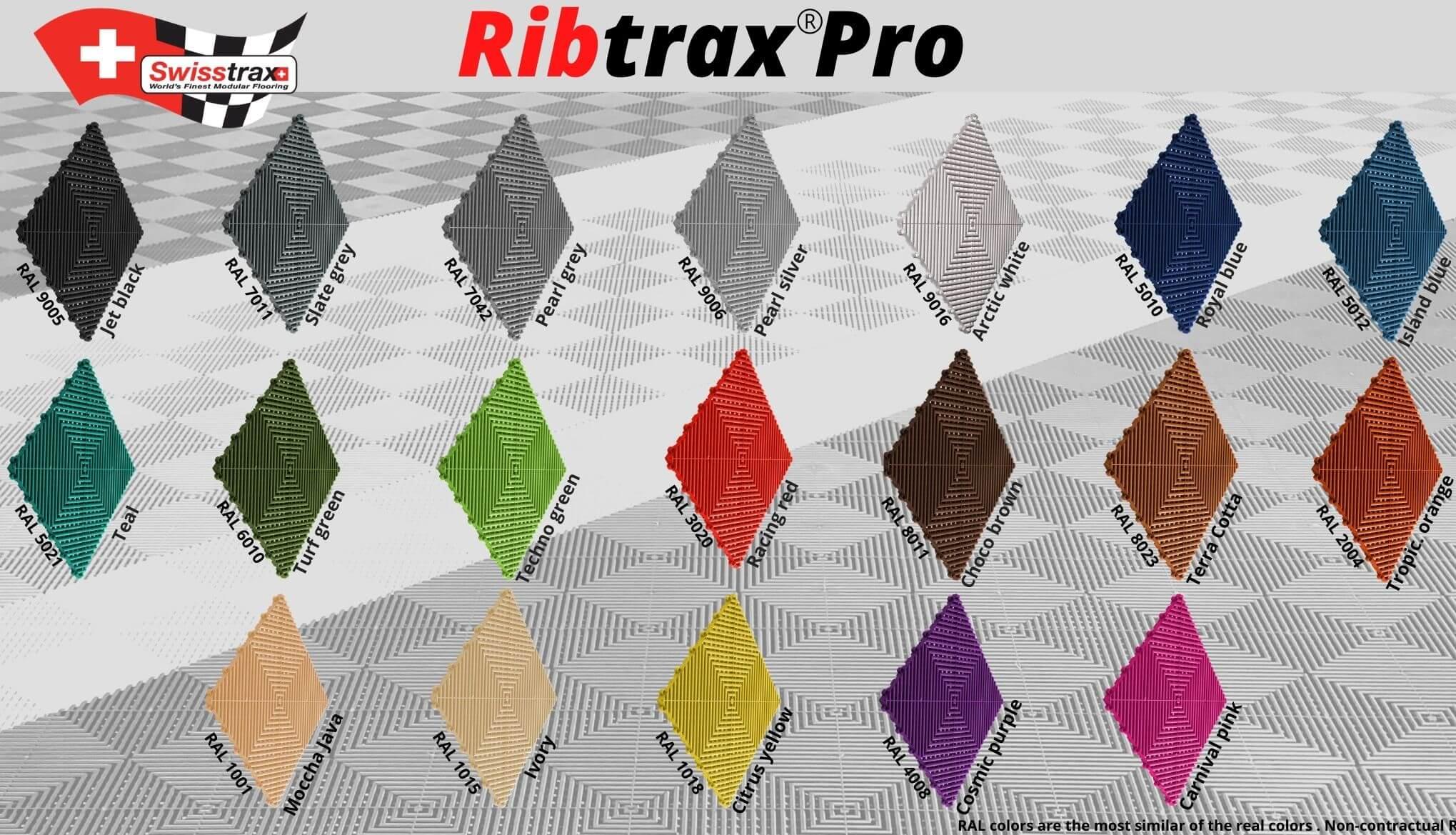 Die RIBTRAX Farben