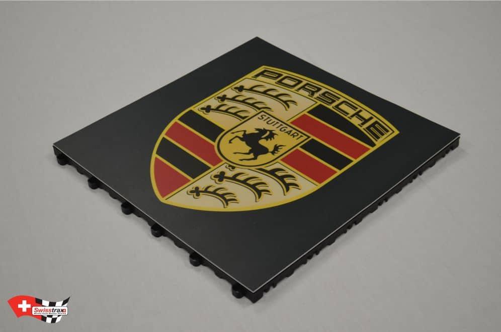 GRAPHICTRAX Bodenplatten - Porsche Logo