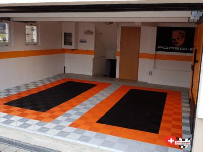 Garagenboden mit 2 Auto-Stellplätzen