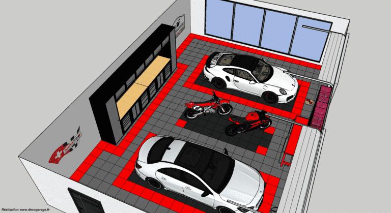 Beispiel für eine von uns bereitgestellte Garagenboden-Simulation
