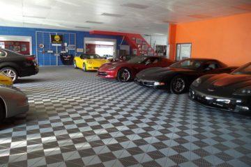 Garagenboden und Ausstellungsboden