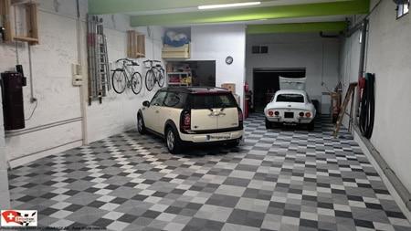 Garagenbodenbelag RIBTRAX Pearl Silver - Slate Grey