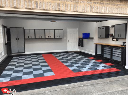 Garagenplatten Red - Black - Slate Grey und Pearl Silver