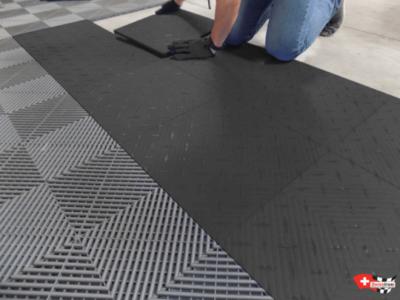 Installation Bodenplatten mit Clip-System