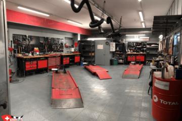Motorrad-Garage-Bodenbelag