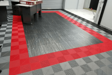 Parkett-Effekt-Bodenbelag