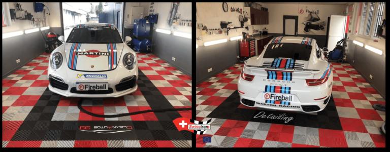 Racing Red und Pearl Silver Ribtrax Platten