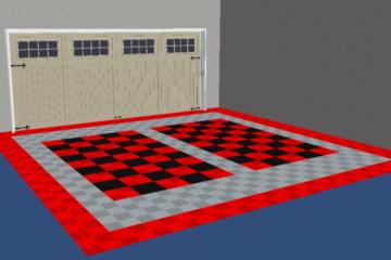 rot und schwarz karierter Boden 3