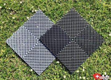 Recycelte ineinandergreifende Bodenplatten
